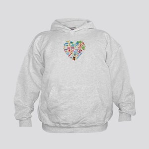 Costa Rica World Cup 2014 Heart Kids Hoodie